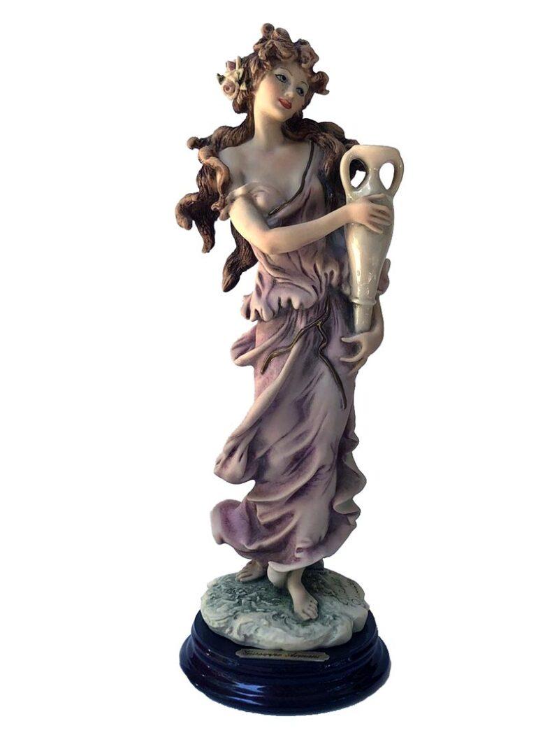 Giuseppe Armani porcelain sculpture Lady with Vase