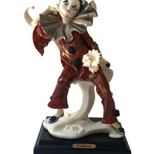 Giuseppe Armani porcelain sculpture Ruffles Little Pierrot With Daisies