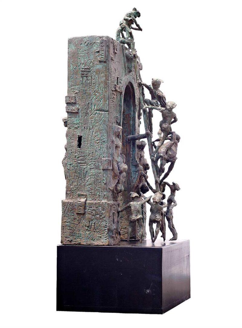 Composition bronze sculpture by Avedananda Goswami