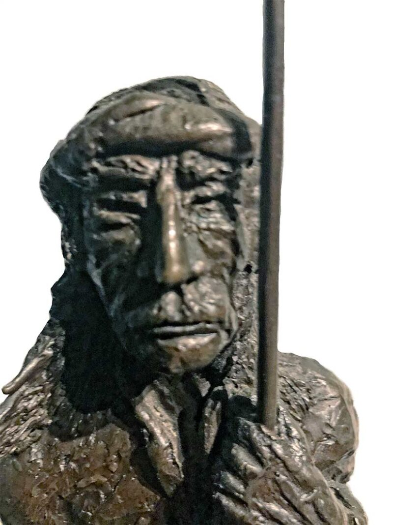 Bronze sculpture by Robert H. Duffie titled Indian circa early 1970s