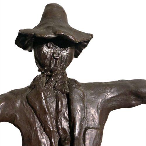 Robert H. Duffie - Scarecrow bronze sculpture