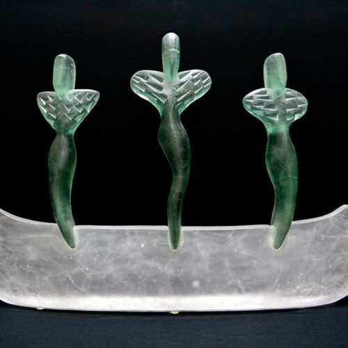 Mark Abildgaard Glass Sculpture Art Spirit Boat