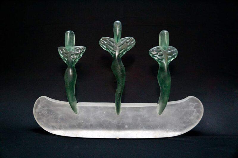 Mark Abildgaard Glass Sculpture Art Spirit Boat