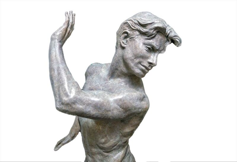 The Dance of Yes and No a brilliant figurative sculpture in bronze by Martin Eichinger