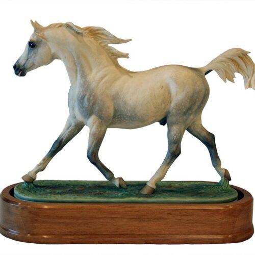 Arab Stallion Royal Worcester by Doris Linder porcelain equine sculptural figurine