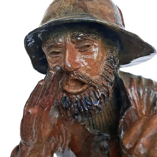 Bronze Sculpture titled Gale Warning by noted sculptor Gary Cooley