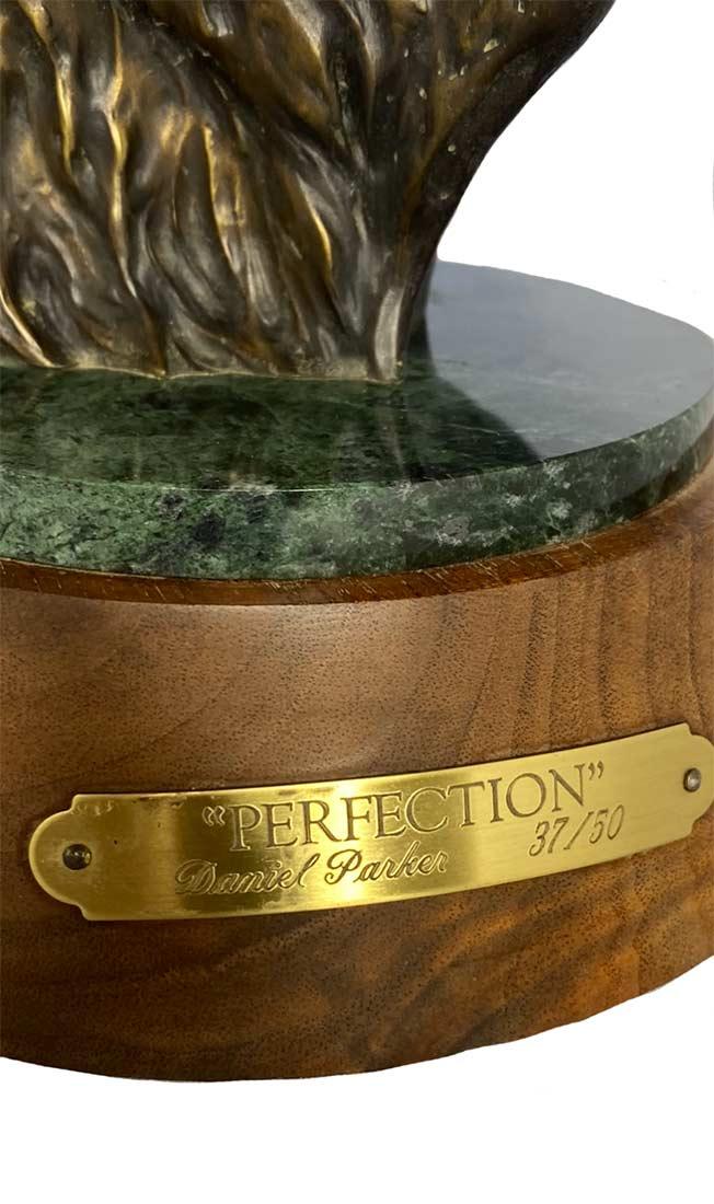 Daniel Parker bronze sculpture of an Elk titled Perfection
