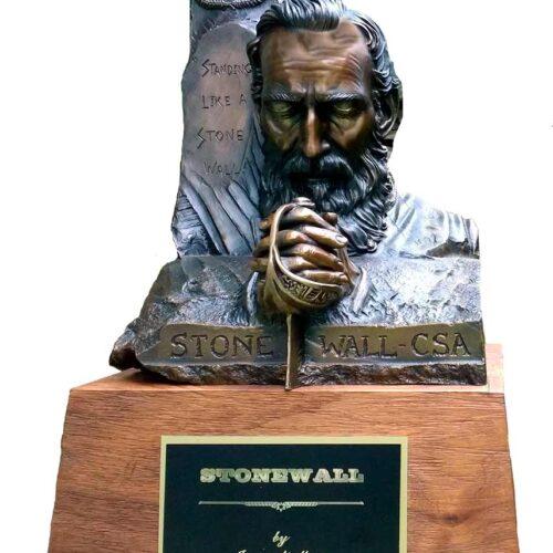 Stonewall Jackson bronze bust sculpture by James Muir Allegorical Artist