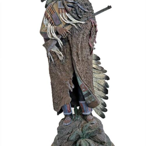 Rolling Thunder a bronze sculpture of a Native American Chief by David Manuel