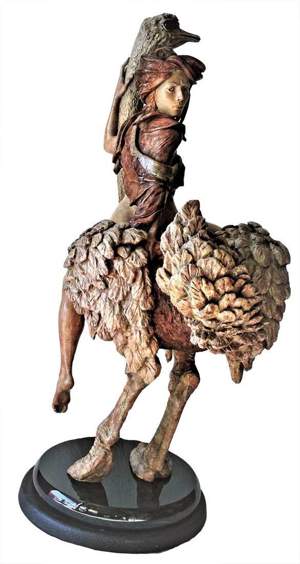 Martin Eichinger a Limited Edition Figurative Bronze Sculpture titled Adrenaline Rising