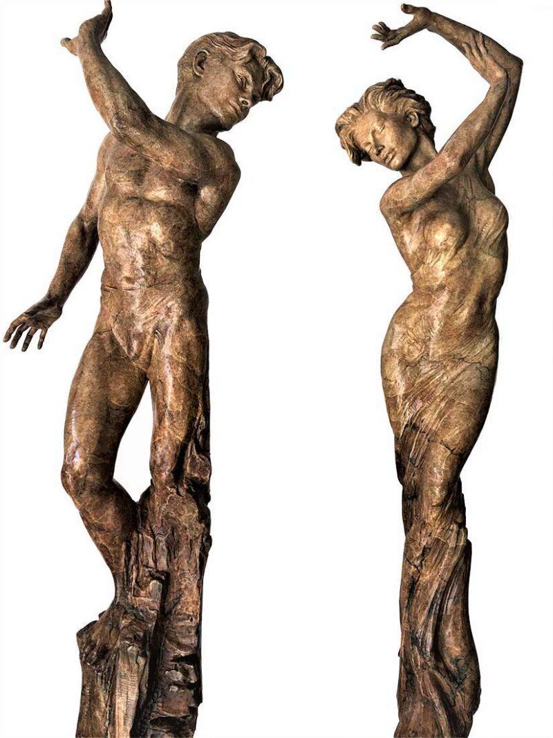 "Martin Eichinger - YES & NO 68"" limited edition bronze sculpture"
