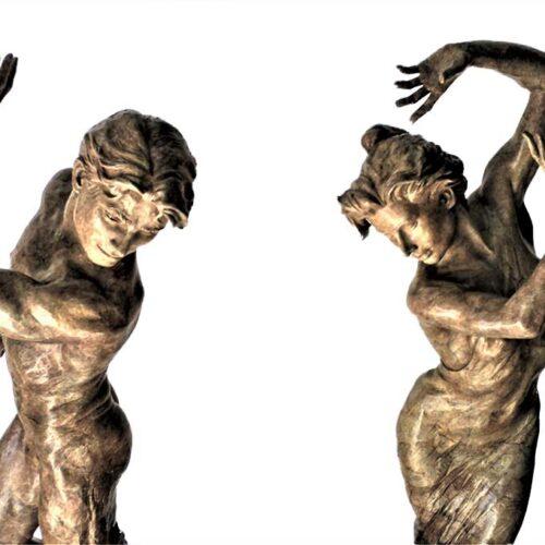 Martin Eichinger – YES & NO 68″ limited edition bronze sculpture