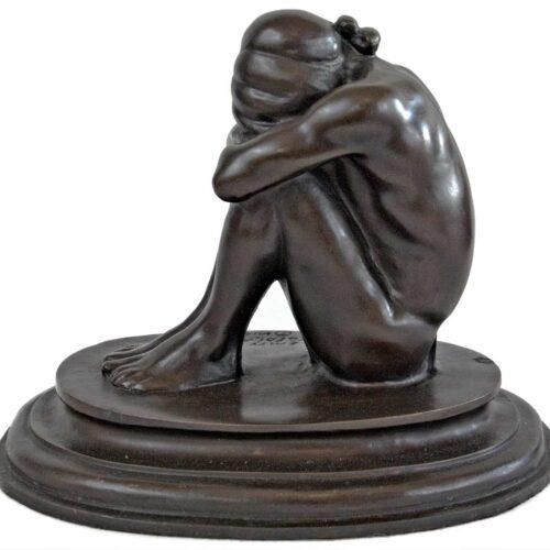 Emry Kopta - bronze limited edition a sculpture titled Hopi Thinker