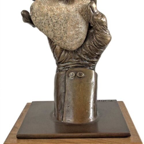 Tommy Hicks - bronze limited edition hand sculpture titled Presented