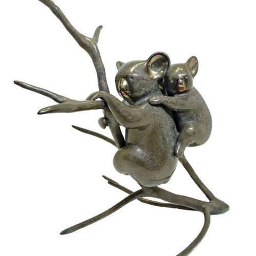 Loet Vanderveen bronze Koala and Baby sculpture