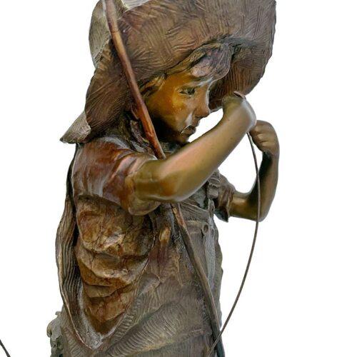 Walt Horton bronze sculpture Hook, Line. and No Sneakers