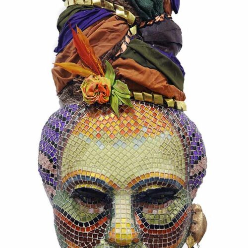 Yemaya - a Gail Glikmann mixed-media & mosaic sculpture