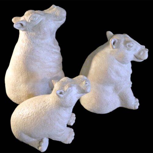 Hippo Sculptures by Paul Bellardo for Austin Sculpture for sale on Sculpture Collector