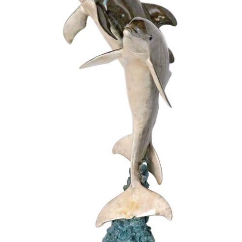 Wyland a bronze dolphins sculpture titled 6ft Synchronicity