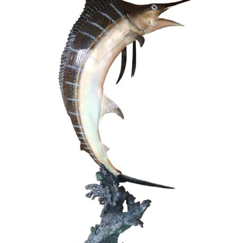 Marlin Waters a limited edition bronze sculpture by noted marine art Robert Wyland