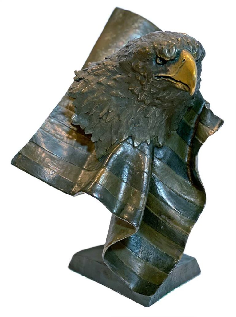 Forever Free a bronze eagle sculpture by Mark Hopkins