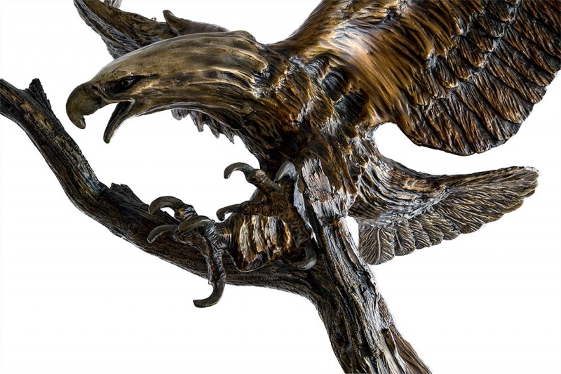 Eagles Flight by bronze artist Carl Wagner available now at Sculpture Collector