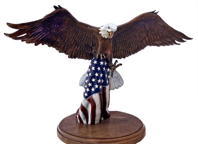 Bronze Eagle Sculpture by David Anderson - The Color Guard